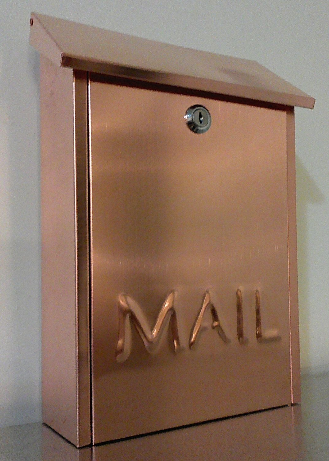 Copper Mailbox Patina Wall Mounted Copper Mailbox Via Etsy 인테리어 Pinterest