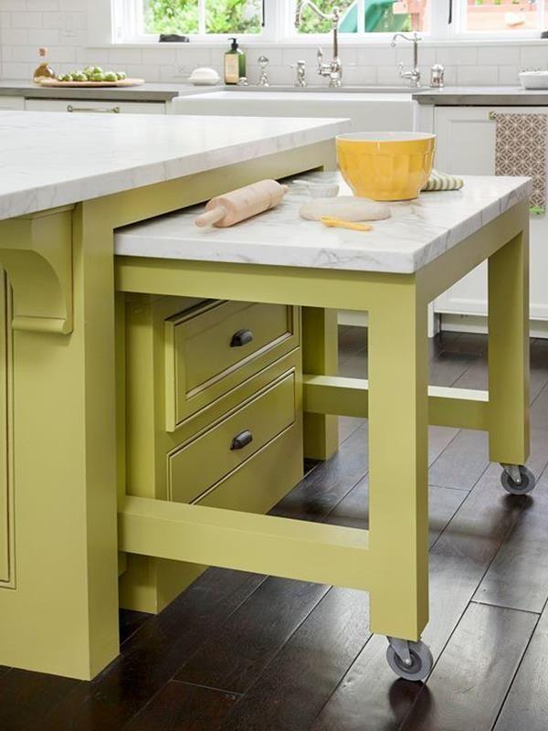 kleine-küche-einrichten-wohnideen-kücheneinrichtung - kuchengestaltung mit farbe 20 ideen tricks