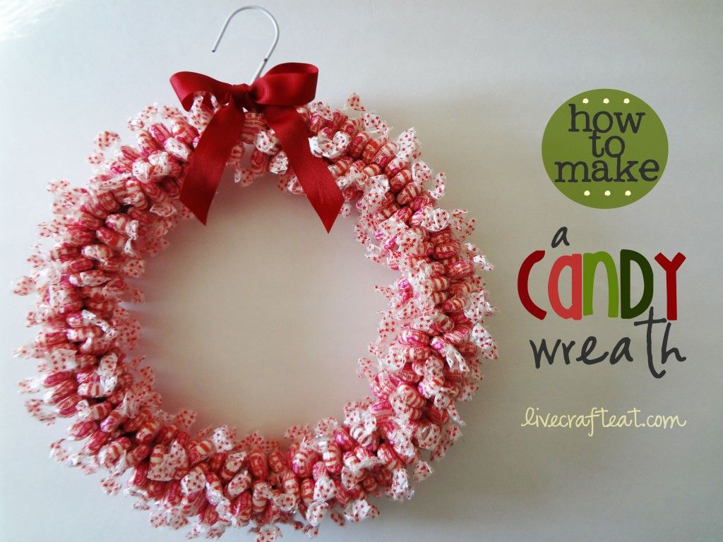 Weihnachtsdeko Stoff How To Make A Candy Wreath Craft For Christmas | Candy