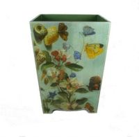 Butterfly Decoupage Waste Paper Bin | Traditional and Room