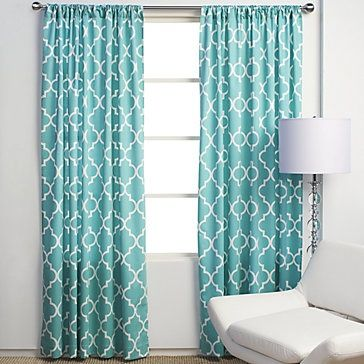 Up All Night - turquoise curtains for living room