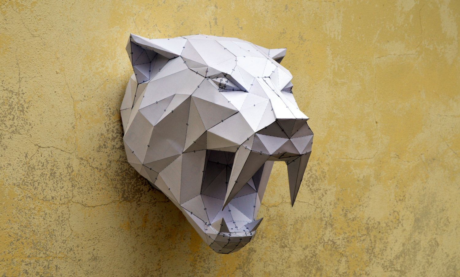 Papertrophy Make Your Own Sabertooh Tiger Papercraft Animal Paper