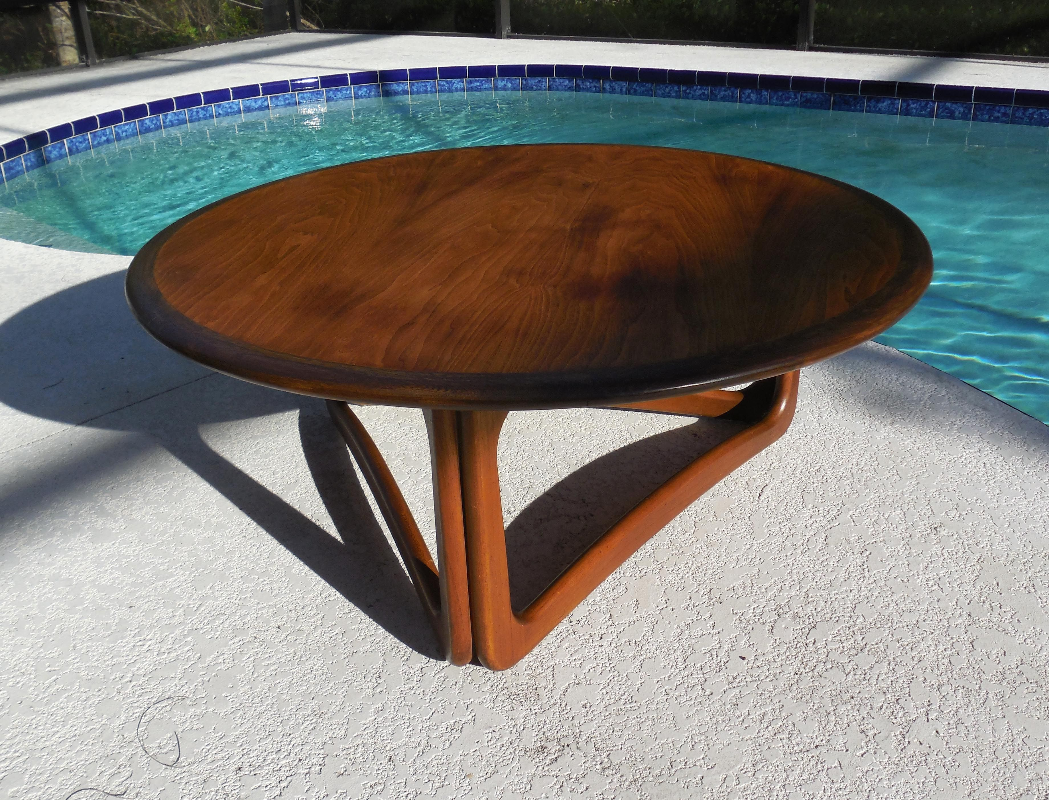 Round Mid Century Coffee Table Mid Century Lane Round Coffee Table 1963 Midcenturyfla