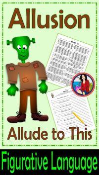 Allusion Writing Activity | Figurative language, Sentences ...