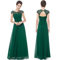 Floor Length Chiffon Bridesmaid/Prom Dress --- Dark Green ...