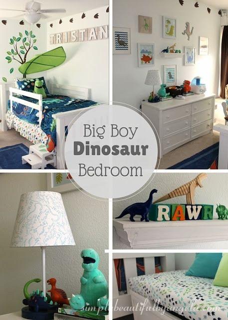 Simply Beautiful by Angela Tristanu0027s Big Boy Dinosaur Room Reveal - dinosaur bedroom ideas