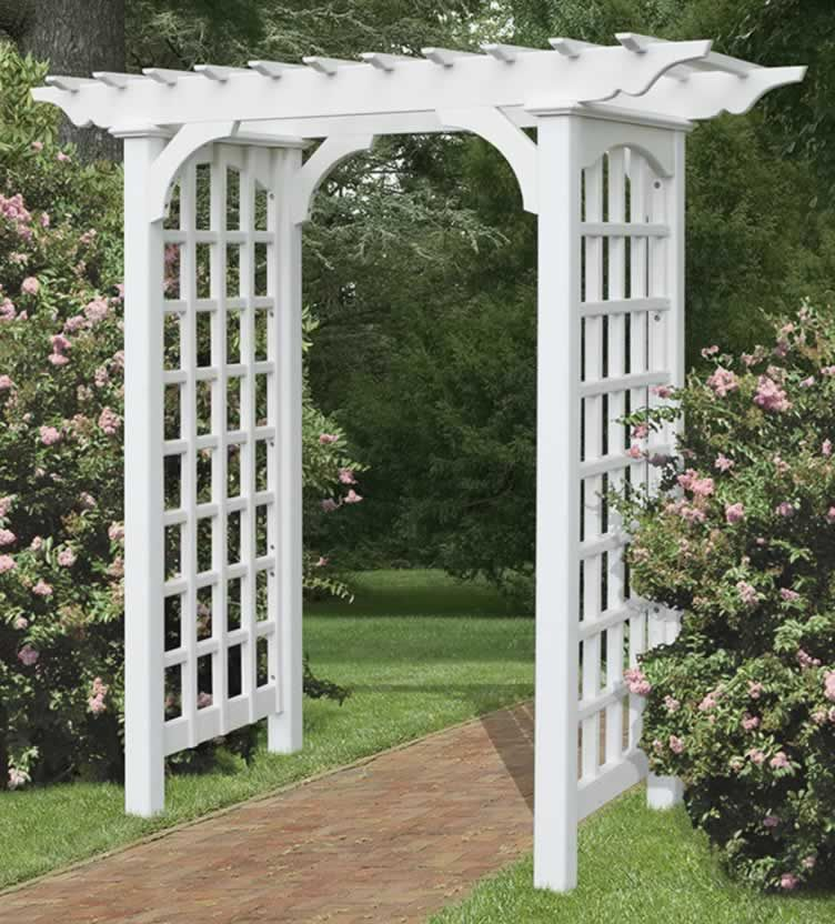 I found this photo on countrysidewoodcrafts and am thinking of - garden arbor plans designs