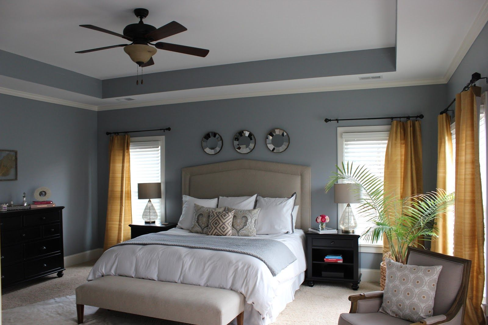 Bedroom Grey Walls Benjamin Moore Gull Wing Grey Walls Great Master Bedroom
