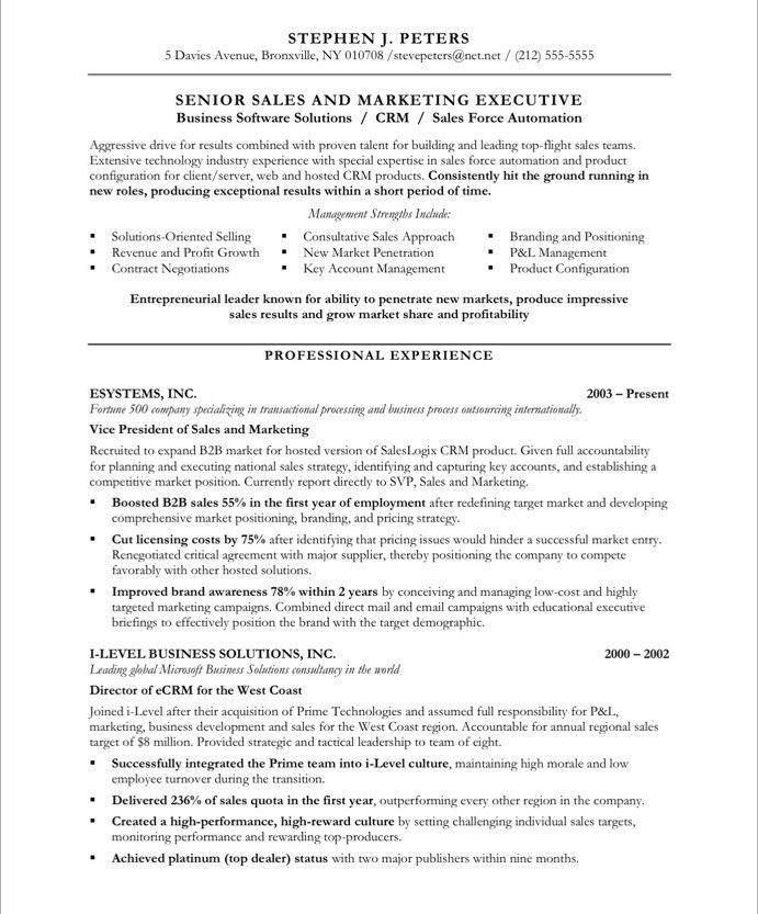 Sales Executive-Page1 Marketing Resume Samples Pinterest - sales executive resume