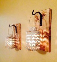 Rustic gray lantern, Wall decor, Rustic bathroom decor ...