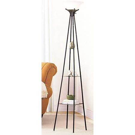 $29 Walmart Mainstays Etagere Floor Lamp - Walmart Nursery - living room lamps walmart
