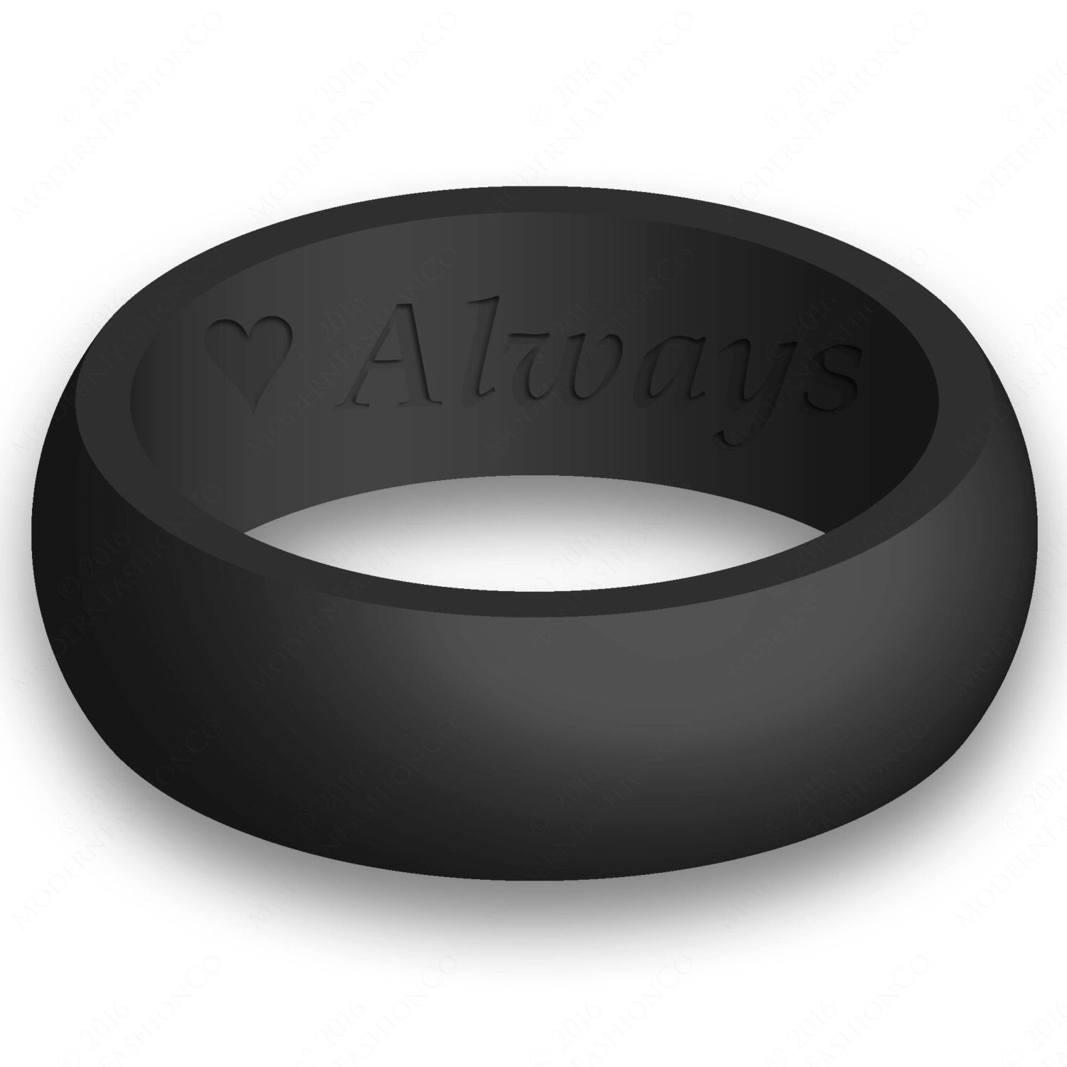 safety wedding band Custom Engraving Mens Silicone Wedding Ring Band Flexible Hypoallergenic Safety Rubber Modern Athletic Active Wear Man Jewelry
