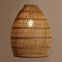 Basket Weave Bamboo Pendant Shade | Ambient light, Pendant ...