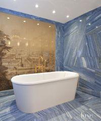 Modern Blue Marble Master Bath   Luxe   Bath + Powder ...