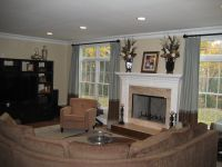fireplace between two windows - Google Search   Kitchen ...