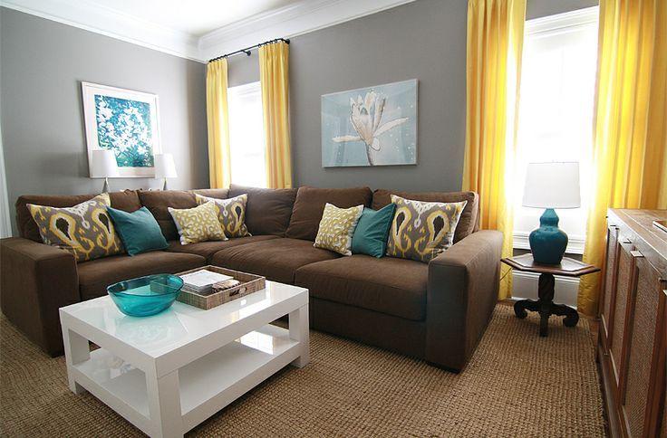 Wonderful Grey Teal Brown Living Room  Cute Bedroom Decorating - teal living room furniture