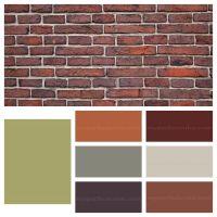 Paint accent colors that complement orange brown brick ...