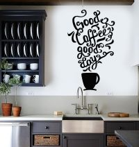 Vinyl Wall Decal Quote Coffee Kitchen Shop Restaurant Cafe ...