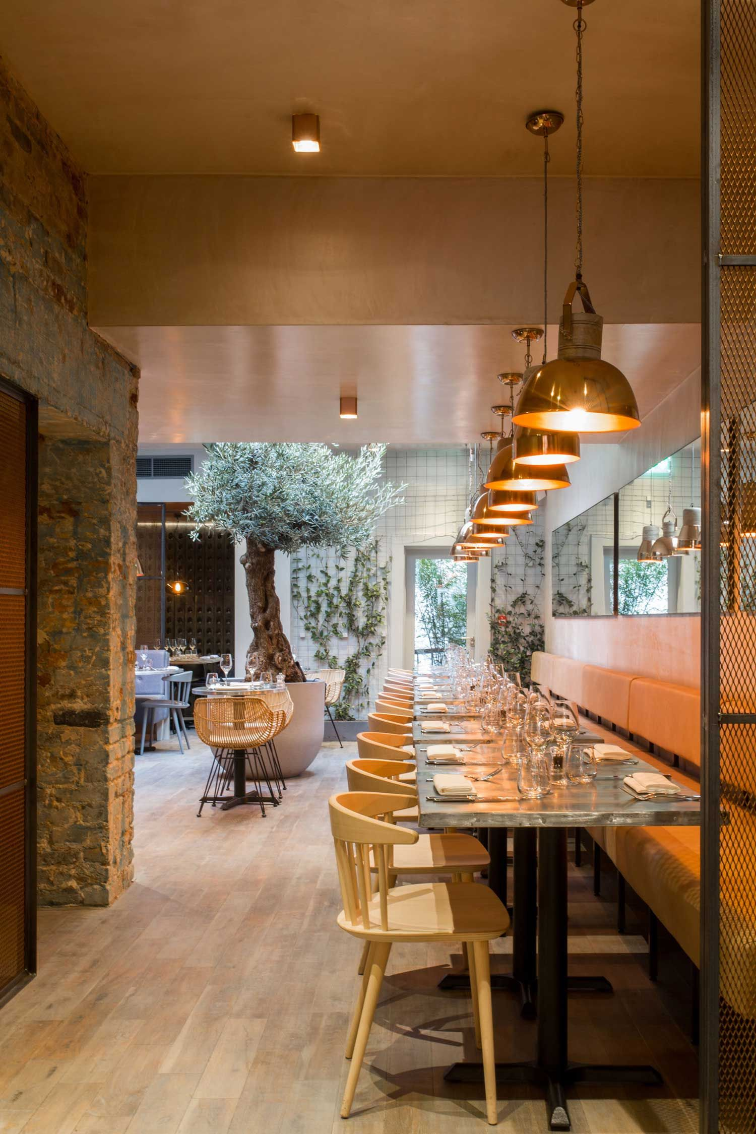 Copper Interior Design Bandol Bar And Restaurant By Kinnersley Kent Design