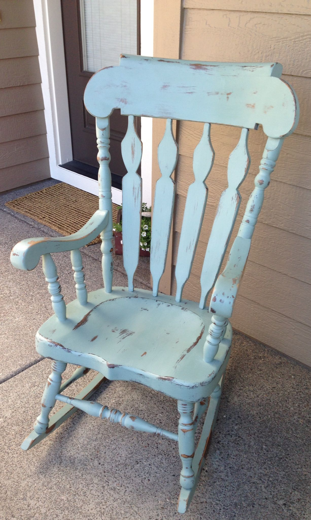 Shabby chic rocking chair i have one just like this that i ve been wanting to paint