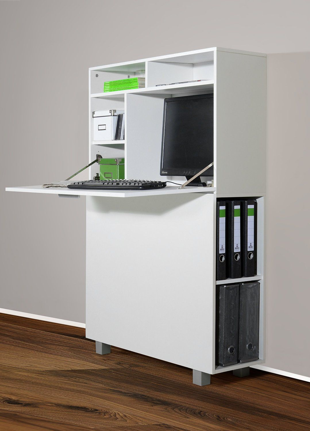 Amazon Tablet Küche 1195 1 Moderner Wandsekretär Od Pc Schrank Weiß Amazon
