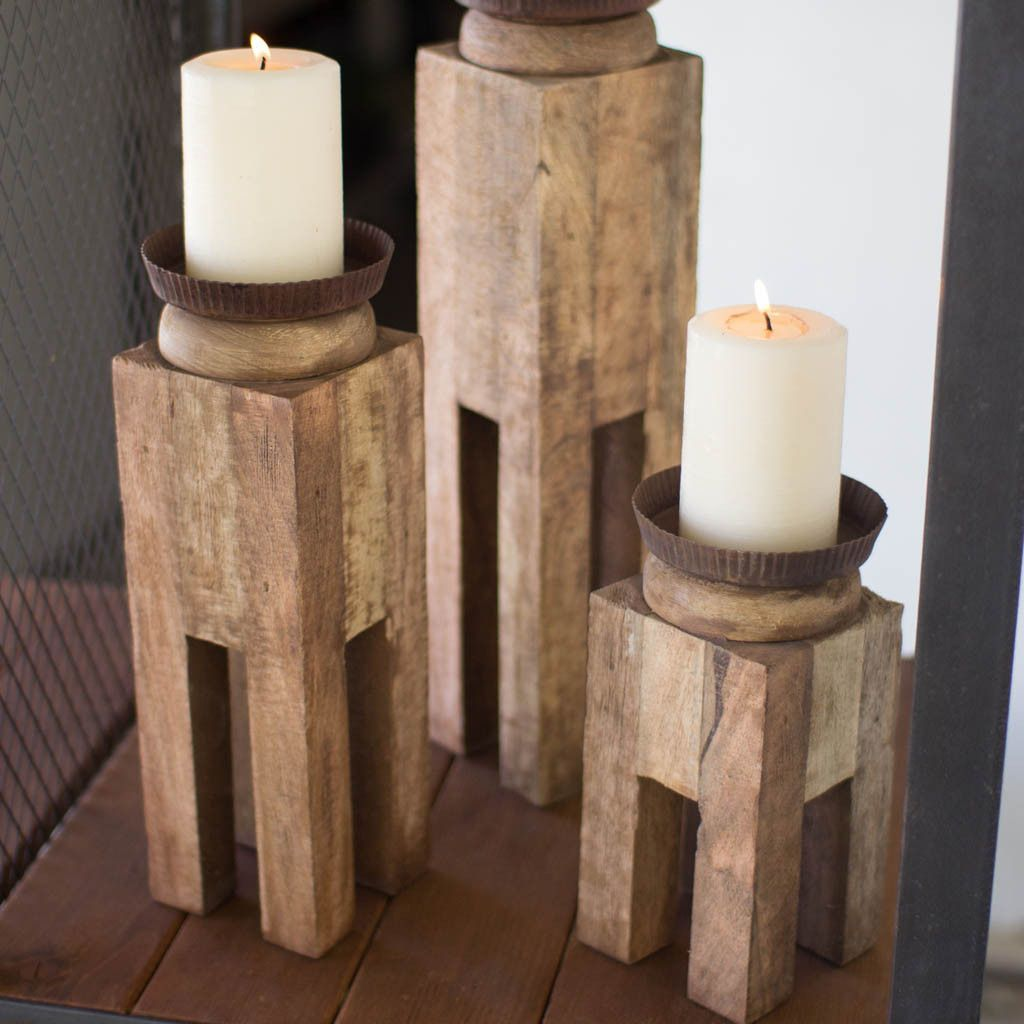 Cool Candle Holders A Fun Decoration For Any Room This Set Of 3 Candle