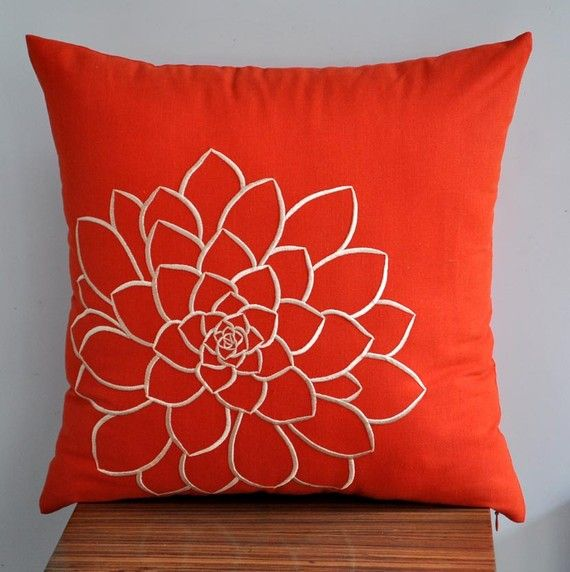 Orange Pillow Cover Decorative Pillow Cover Throw Pillow