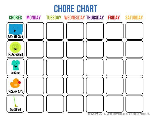 Sample Chore List Chore-Chart-Diy-For-Kid-16 Lovely Diy Chore - sample chore chart