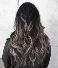 Grey ombr hair colour and highlights Long hair styles ...