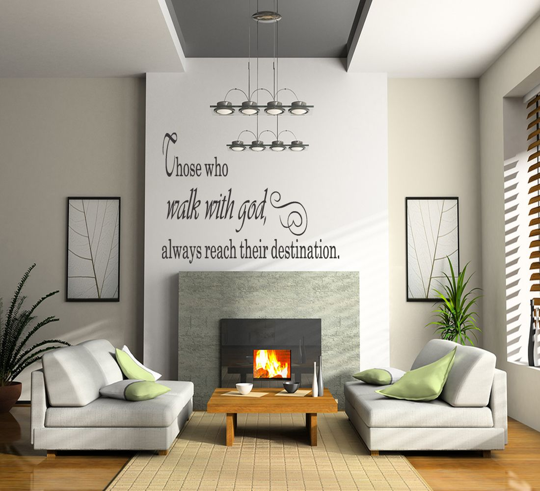 Dropshipping Decoration Details About Walk With God Quote Vinyl Wall Decal Sticker