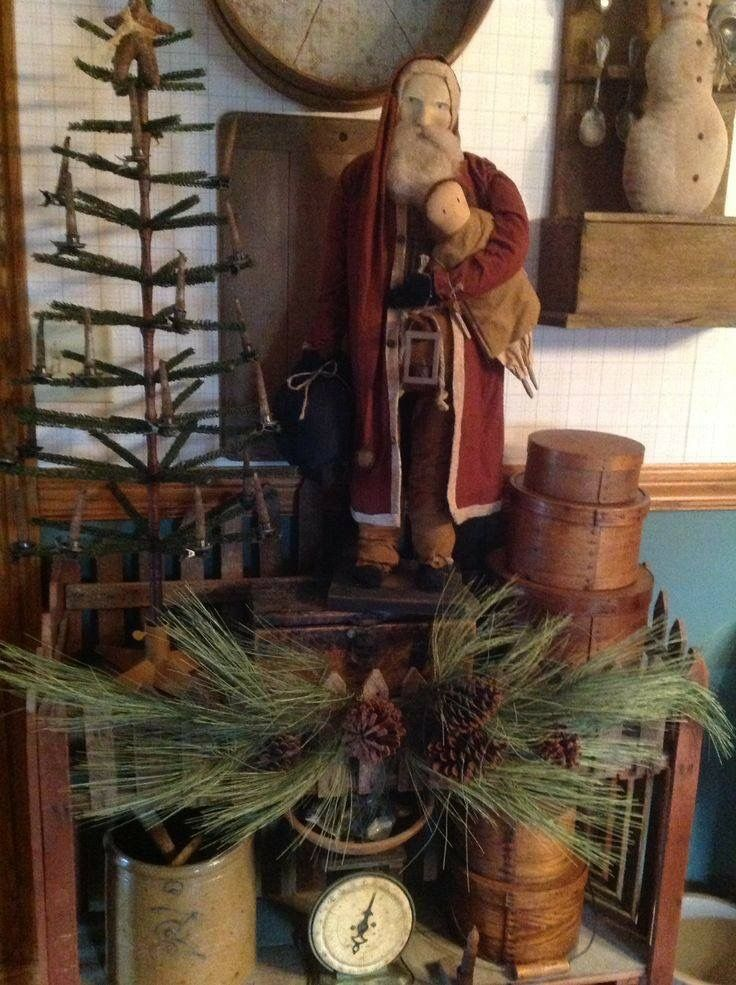 Pin by Rita Shuler on Christmas Pinterest Christmas, Primitive - primitive christmas decorations