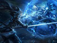 Lightning, magic, force lightning, sword, katana, samurai ...