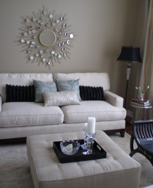 Charmant Living Room White Silver Black Taupe Blue Grey Home. SaveEnlarge · How To  Decorate ...