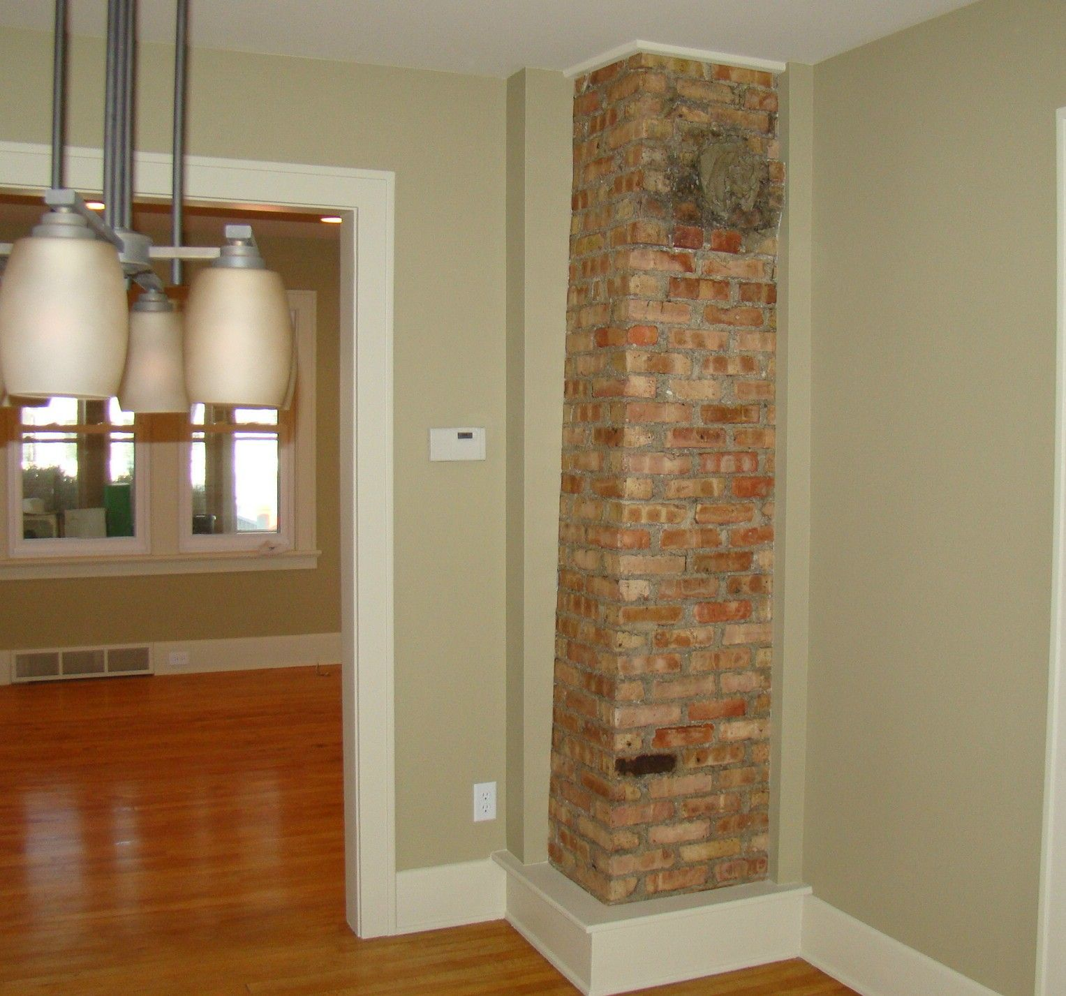 Used Kitchen Cabinets Okc Exposed Brick Chimney In Kitchen For The Home