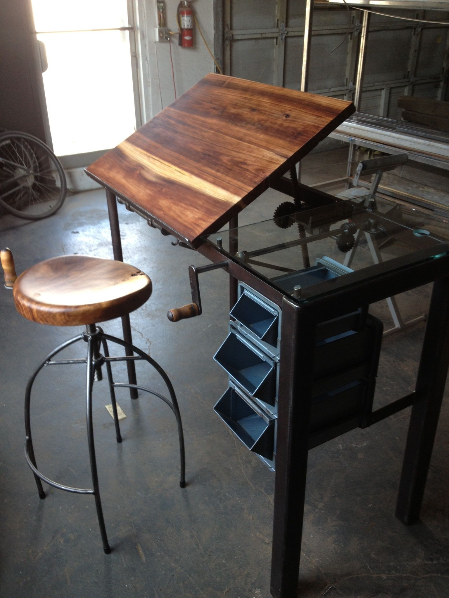 Drafting Table Design Crank Drafting Table Custom Design Furnishings