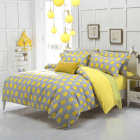 Yellow Gary with Pair Print Women's Teenager's Bedding Set ...