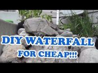 DIY Landscaping Outdoor Pondless Waterfall Project for