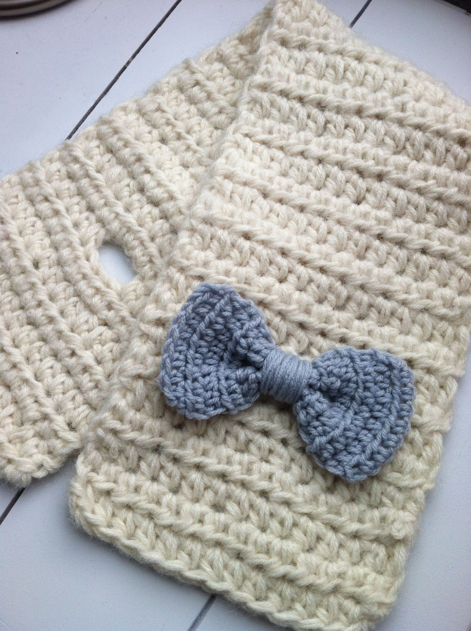 Crochet Toddler Bow Scarf Tutorial from PINspiration Knit