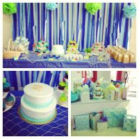 Sweet treat table decoration ideas for Under the Sea baby ...
