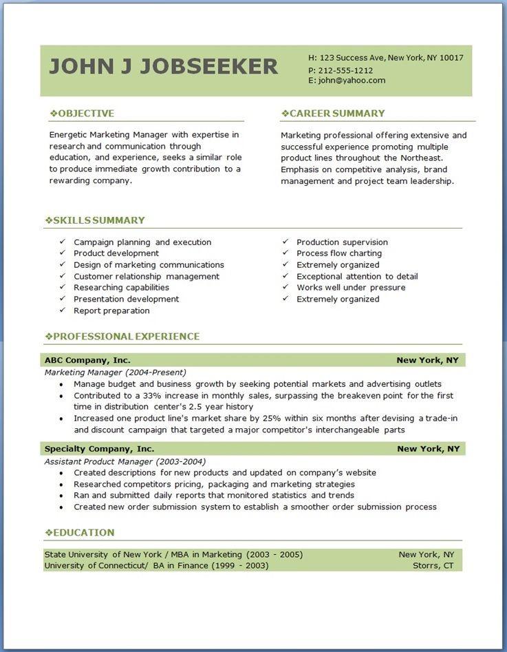 Sample Resume Templates Download Free Basic Resume Templates - printable resume templates