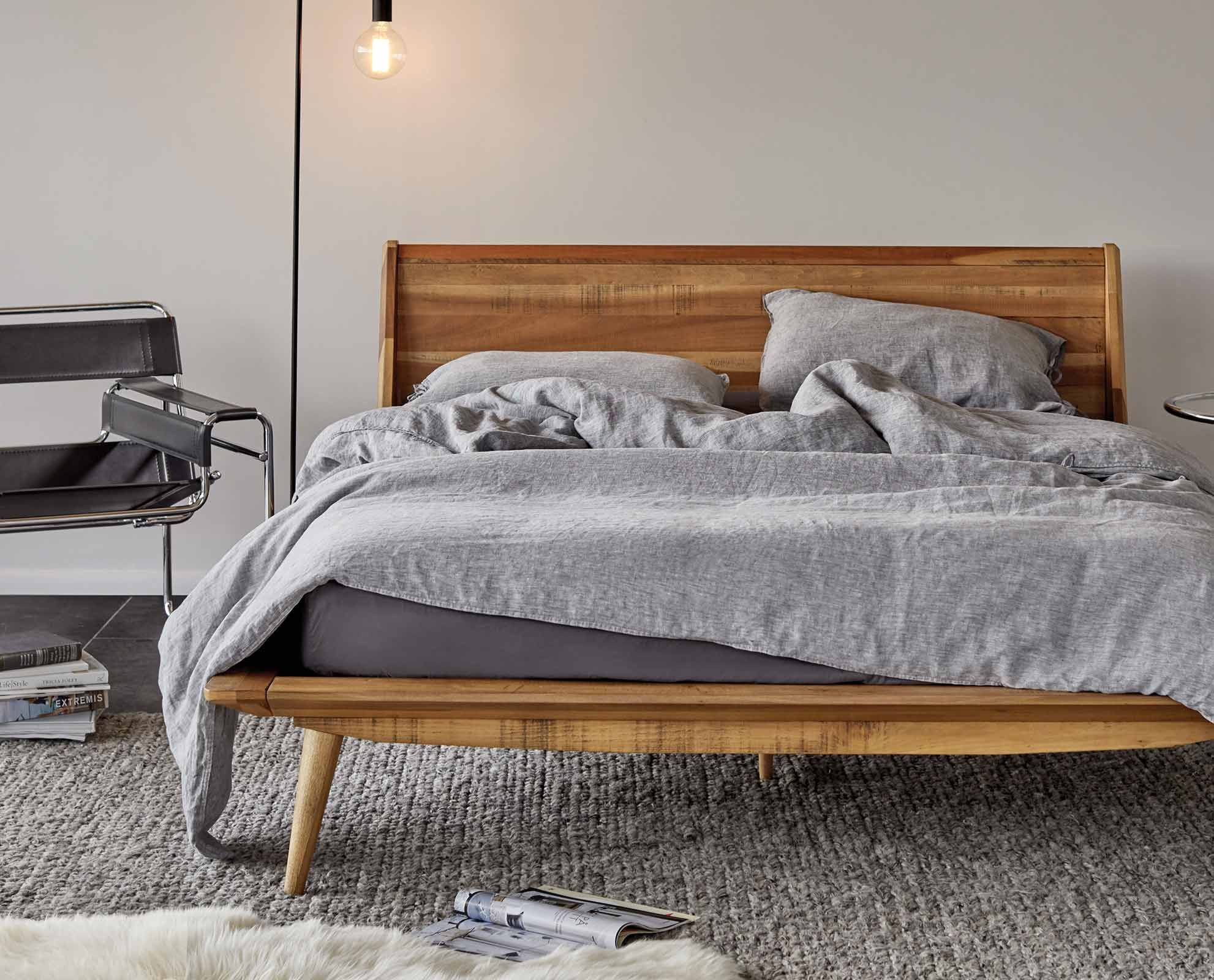 Scandi Style Bedding Bolig Bed Mid Century Modern And Bedrooms