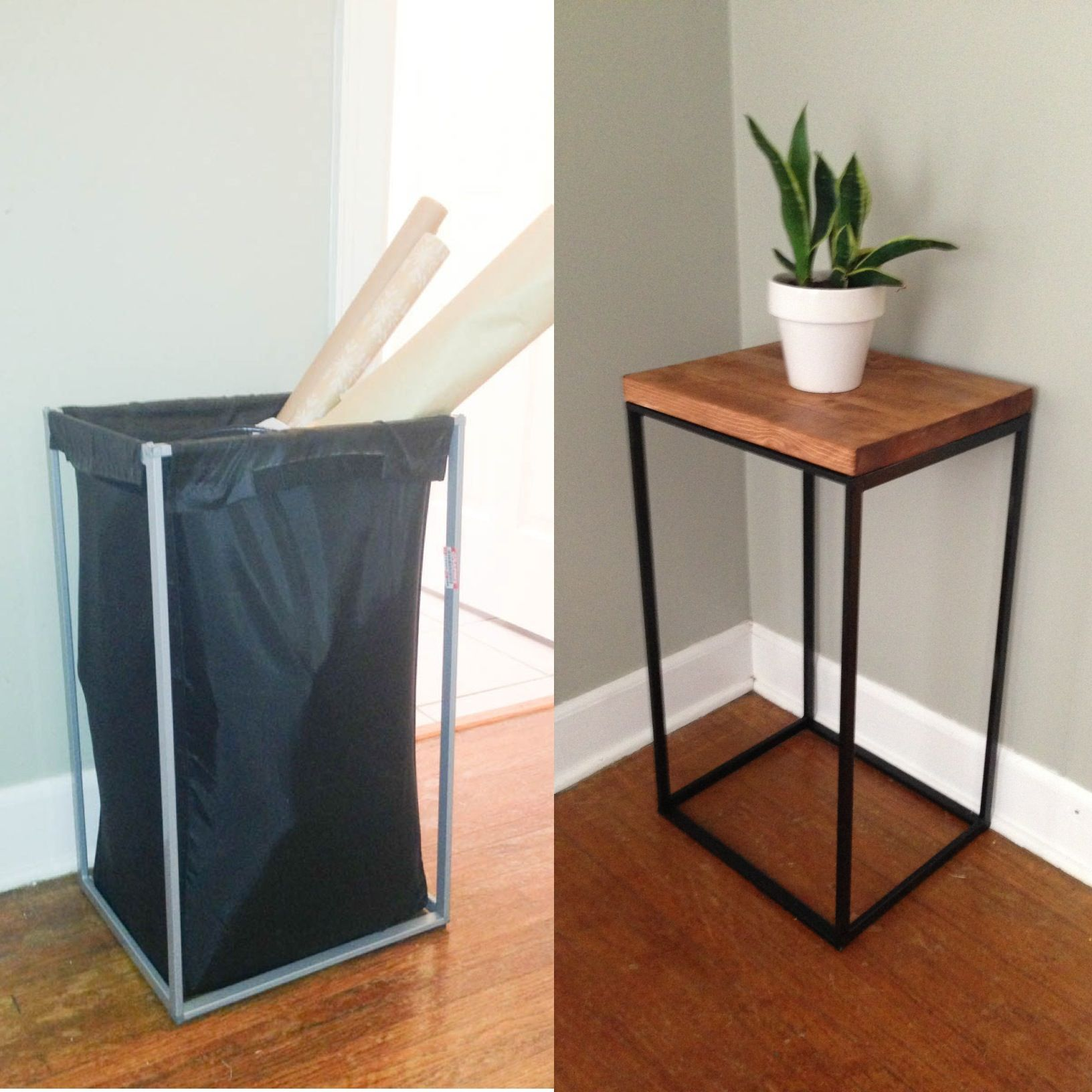 Ikea Diy Diy Side Table From Old Ikea Laundry Hamper The Clever