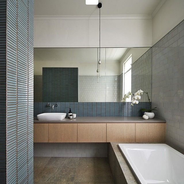 Our Yohen Border mosaic by INAX Japan looking spectacular Project - badezimmer japan