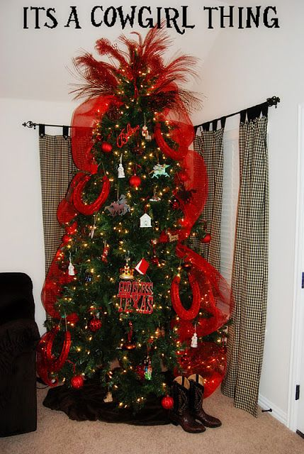 Its A Cowgirl Thing my FIRST Christmas tree \ mantle decor - western christmas decorations