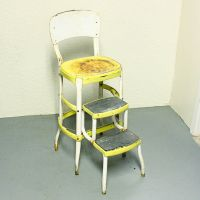 Vintage stool - step stool - kitchen stool - Cosco - chair ...