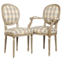 A set of oval back Louis XVI style dining chairs from ...