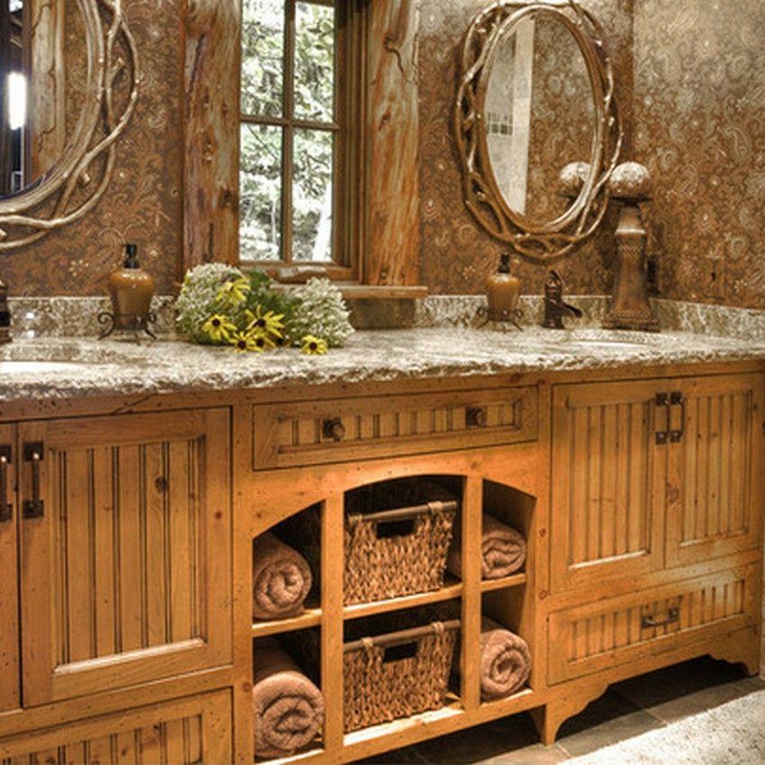 Small Rustic Bathrooms Rustic Bathroom Décor Ideas for a Country - small rustic bathroom ideas