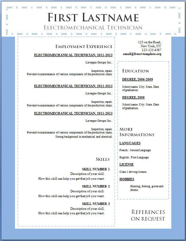 CV Template Download,CV Template online,Professional CV Template - cv template word