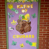 Mardi Gras door decoration | Classroom Ideas | Pinterest ...