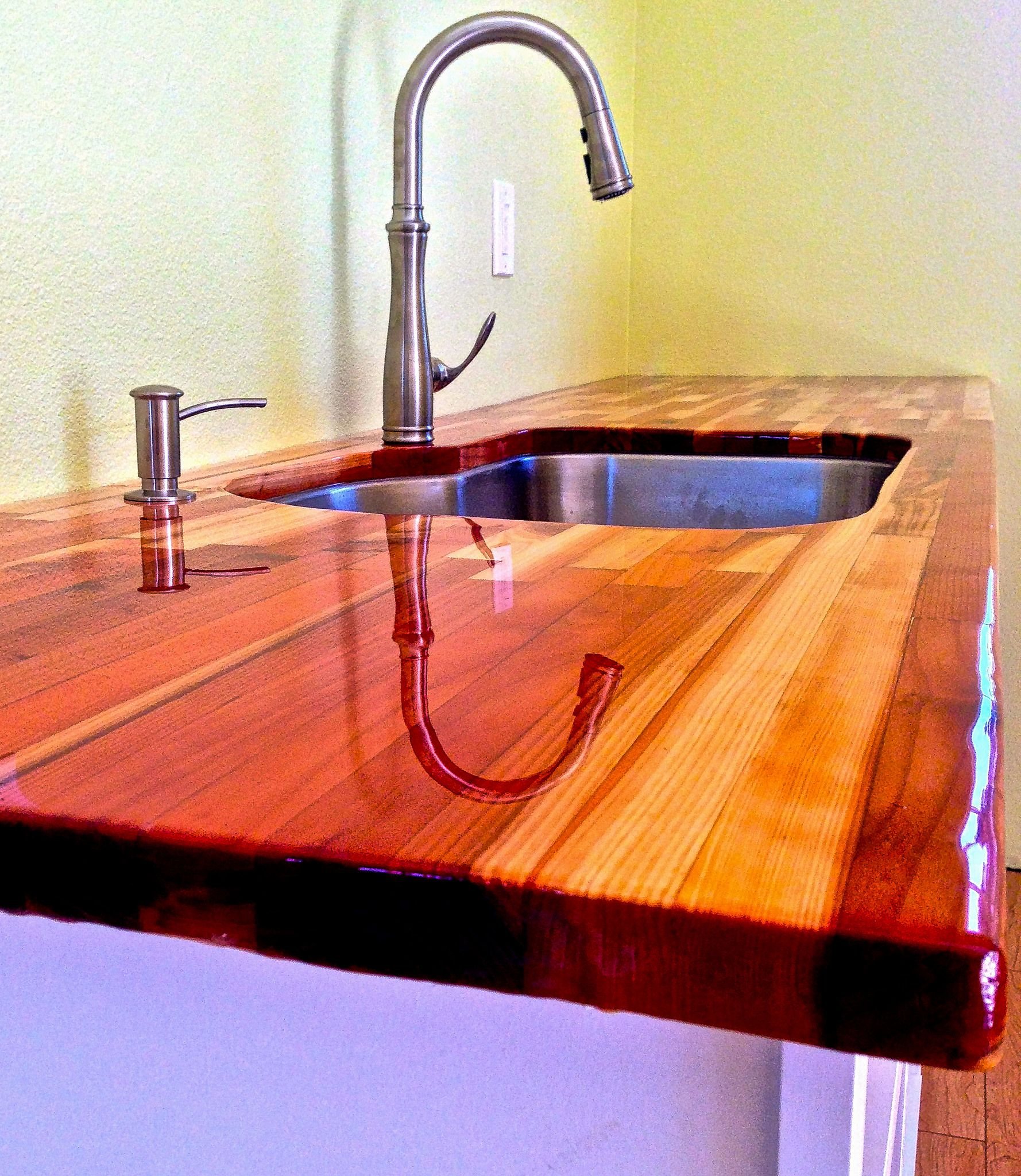 Countertop Epoxy Paint Wood Countertop With Ultraclear Epoxy Photo Gallery My